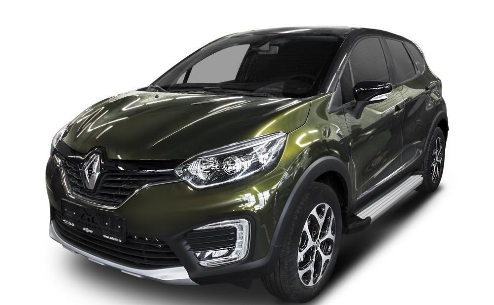 """Пороги """"Silver""""  Renault  Kaptur  (2016-)"""