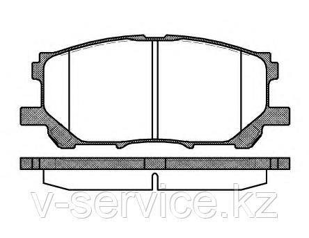 Тормозные колодки YOTO G-377(MD 2249M)(REMSA 1039.00)