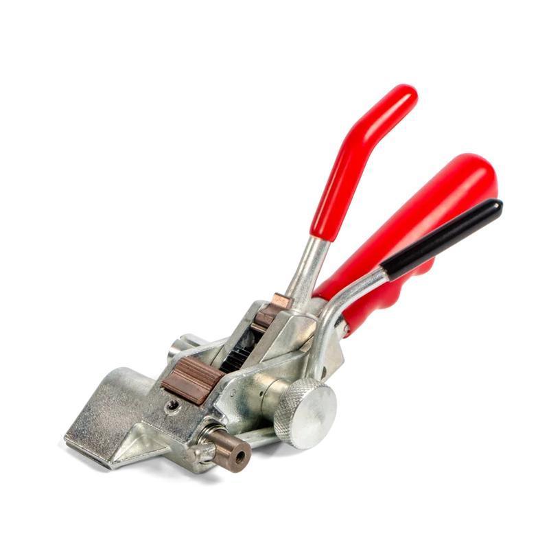 Инструмент с храповым механизмом для натяжения стальной ленты на опорах