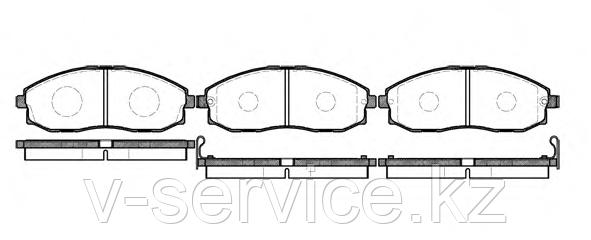 Тормозные колодки YOTO G-412(MD 8123M)(REMSA 703.00)