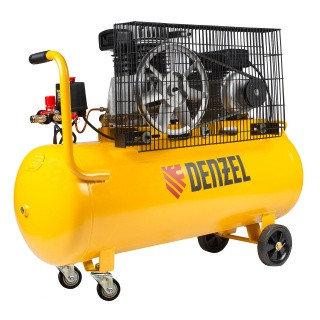 Компрессор воздушный BCI2300/100, ременный привод, 2,3 кВт, 100 литров, 400 л/мин Denzel
