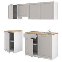 Кухня КНОКСХУЛЬТ серый 240x61x220 см ИКЕА, IKEA