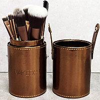 Набор профессиональных кистей для макияжа NAKED2 бронзового цвета (12шт)