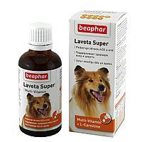Beaphar Laveta Super Hund, Беафар кормовая добавка для шерсти собак, уп. 50мл.