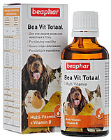 Beaphar Bea Vit Totaal, кормовая добавка для кожи и шерсти всех домашних животных и птиц, уп. 50мл.