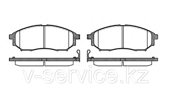 Тормозные колодки YOTO G-429(MD 1231M)(REMSA 852.00)