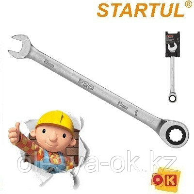 Ключ трещоточный 8 мм, 72 зуба. PRO STARTUL