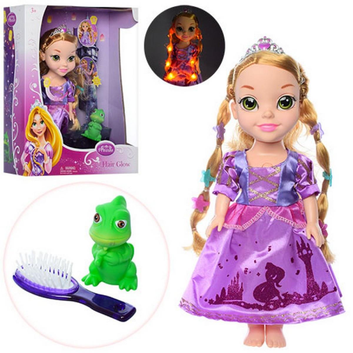 ZT8666 Кукла музыкальная Рапунцель платье светится