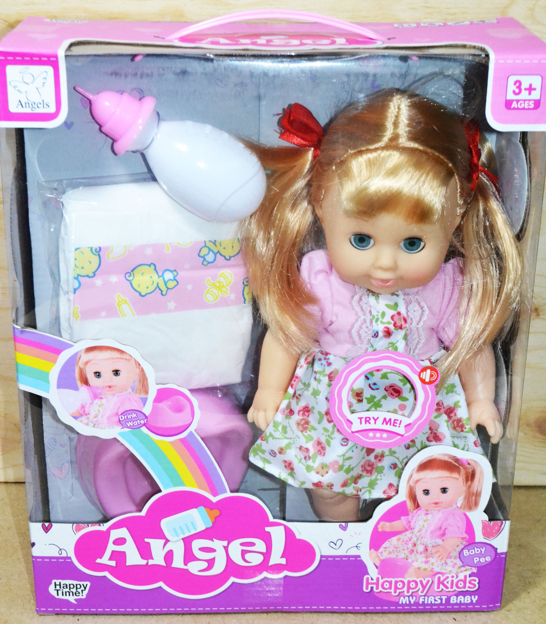 9007 Кукла Angel пупс с горшком и другими аксессуарами 33*28