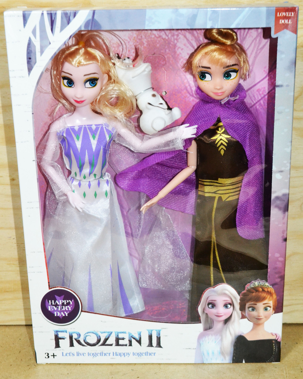 TT29 Кукла Frozen 2 Анна, Эльза и Олаф  32*23