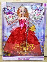 ZR-099 Кукла Elegant Girl с короной в пышном платье с аксессуарами 33*24