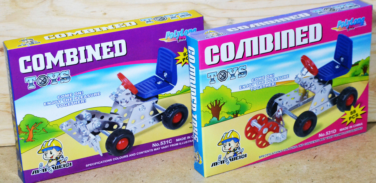 531ABCD Конст металл Combined toys 4вида 22*16см