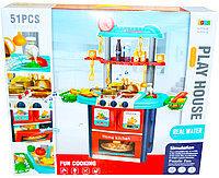 8764A Кухня с водой Play House свет,муз, 51предмет, 60*53см