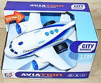 A1114-1 Пассажирский самолет Aviation 3функции,свет,звук 21*13см
