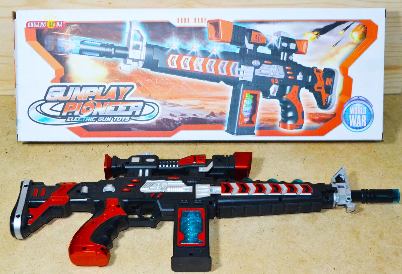 829 Автомат Gunplay свет,муз на батар 50*18см