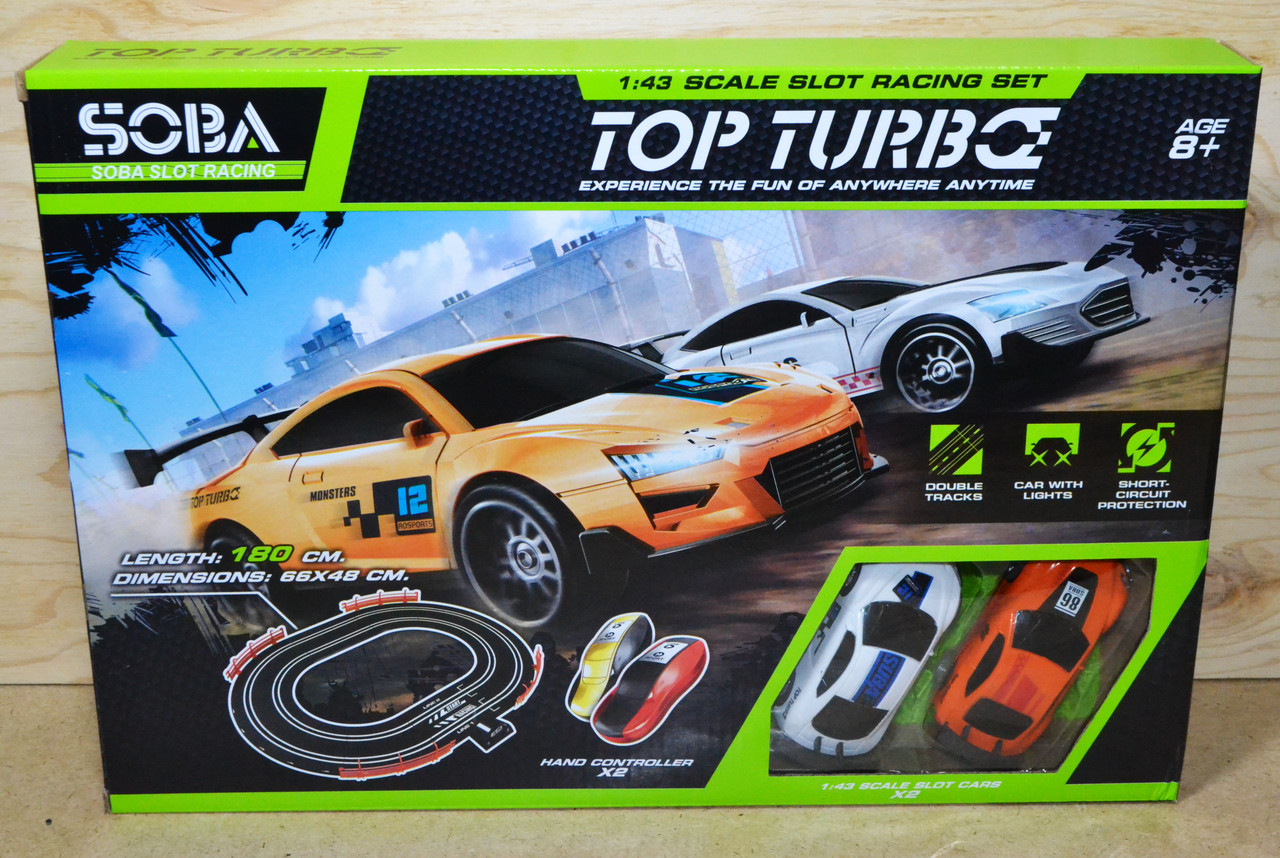 LVT 12110 Top Turbo Гонка автотрек +2машинки 42*30см (2 пульта)