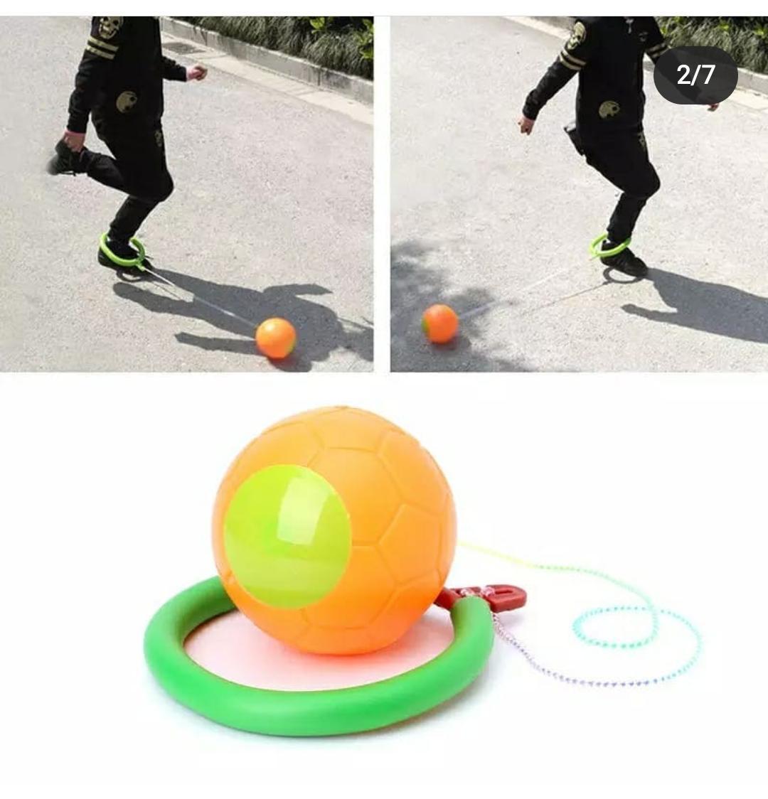 Нейроскакалка с мячом с паралоновым (пластиковый,светится) - фото 1