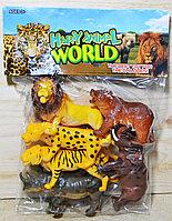 Q701 Дикие животные 6 в 1 Happy Animal World в пакете 30*23