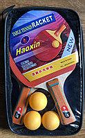 8604  Ракетки 2шт хорошего качества + 3 шарика в сумочке