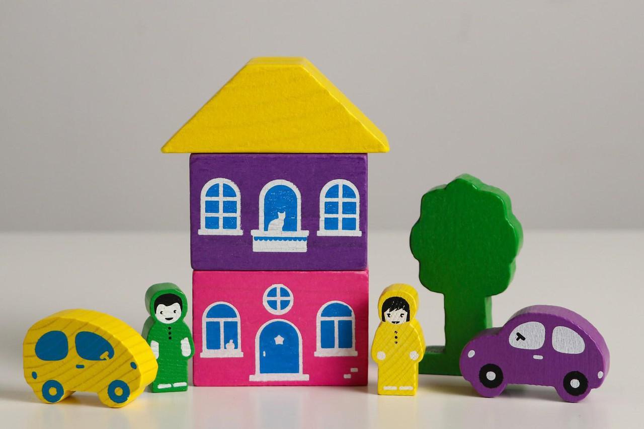 Цветной городок фиолетовый, 8 деталей