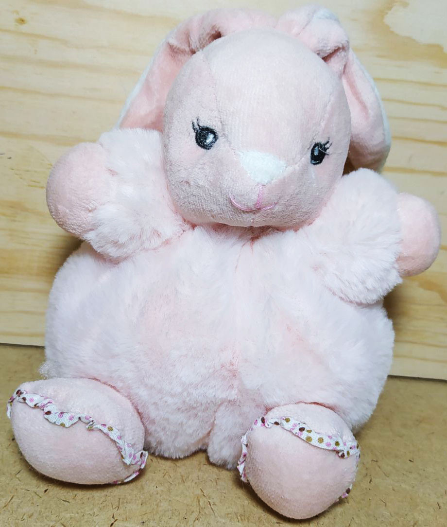 Зайчик розовый, пушистый, 26см