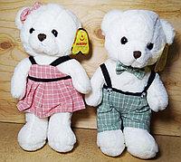 Мишка белый, комбинезон и платье(мал дев) 28см