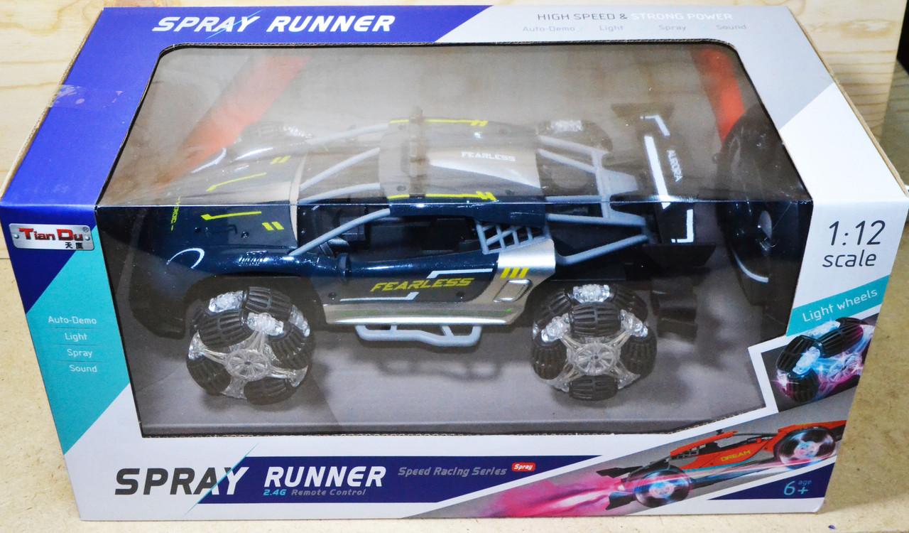 6912-6P Spray runner на р/у 4функц колесо светиться 42*21см