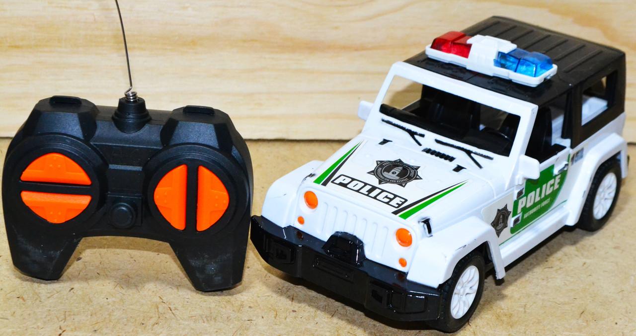 6608-11B Police уазик полицейский на р/у 4функции 12*10см