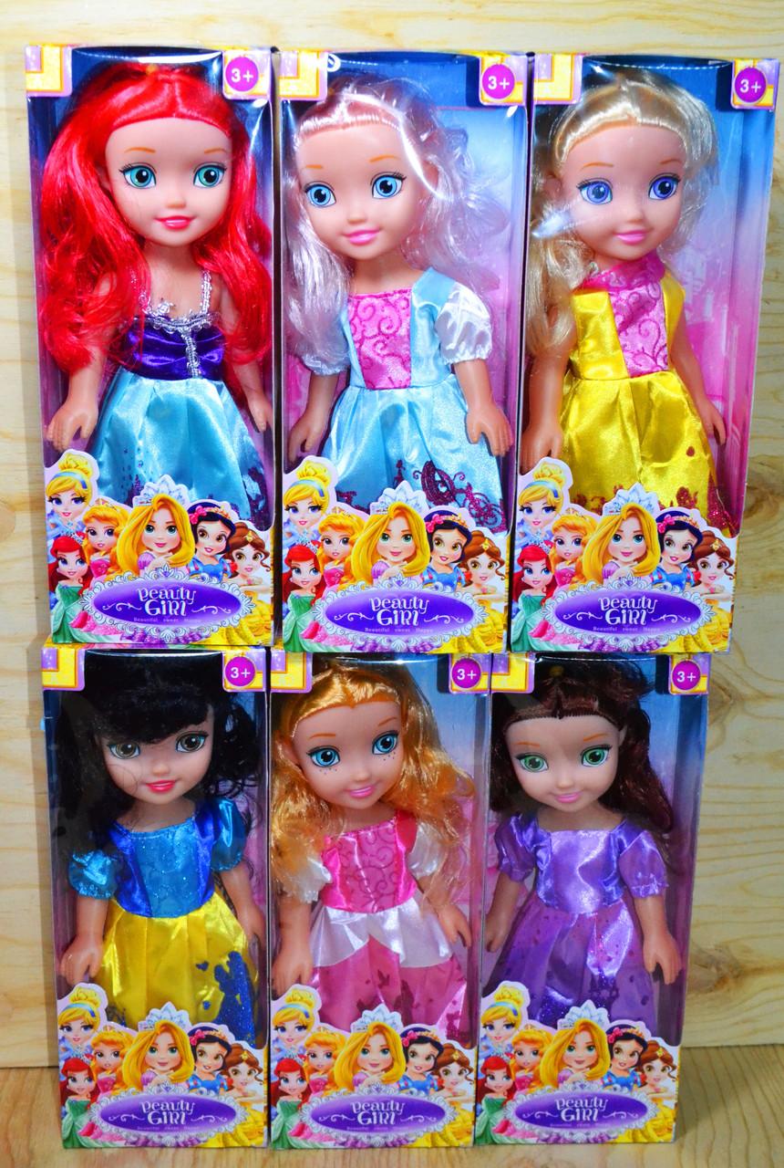 3359 Beauty girl кукла Принцесса 6видов, цена за 1шт 27*10