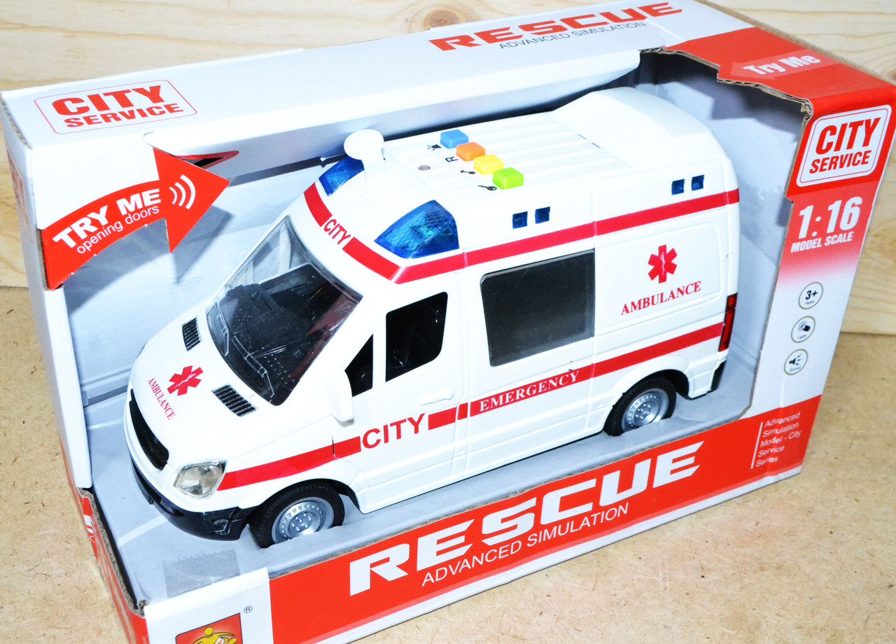 WY590A Скорая помощь Rescue Ambullance 4функции,27*16см