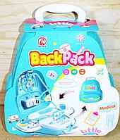 RX-823A Мед набор в рюкзаке-чемодане Back Pack Little 29*25см (голуб)