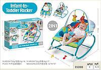 8163 Шезлонг Todler Rocker 2в1 муз, 58*41см, фото 1