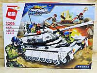 3206 Конструктор Thunder Mission белый танк 430 дет 41*30см
