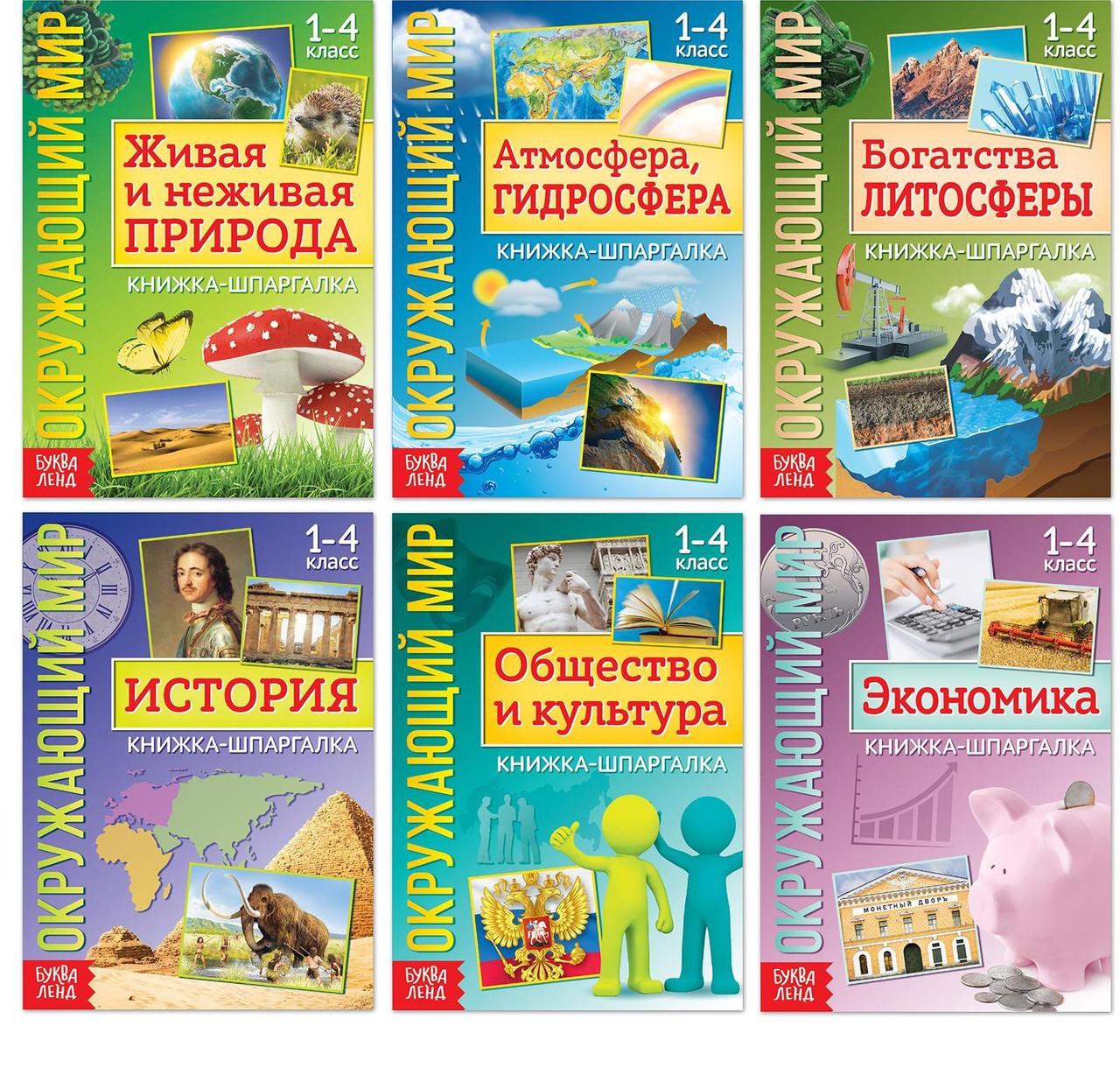 Книжки-шпаргалки набор «Знакомимся с окружающим миром», 6 шт. 18*12см