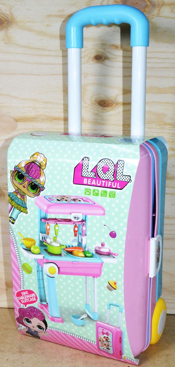 678-206B Кухня ЛОЛ в чемодане трансформер 2в1  36*21см