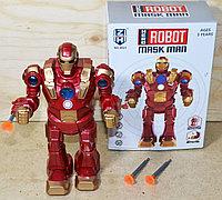 0821 Железный человек робот на батарейках 20*14см