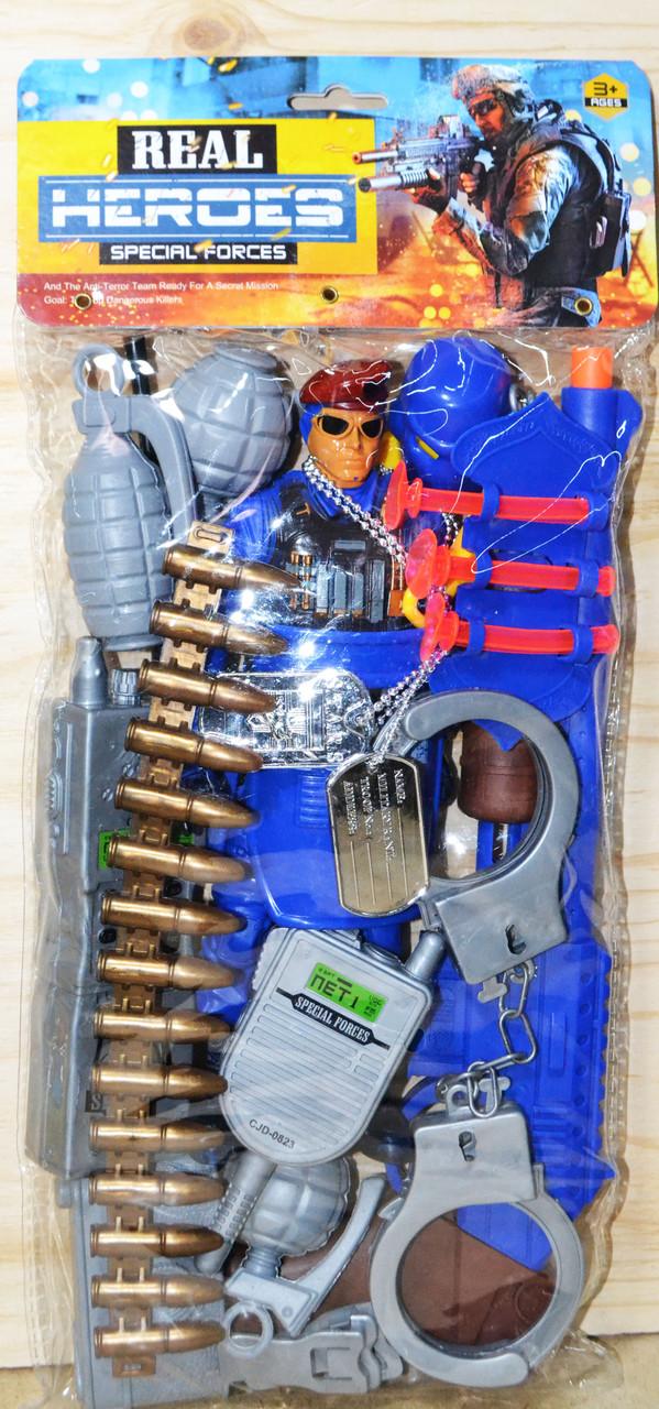 Спецназ синий набор в пакете ? Предметов Real Heroes Forces 42*14см