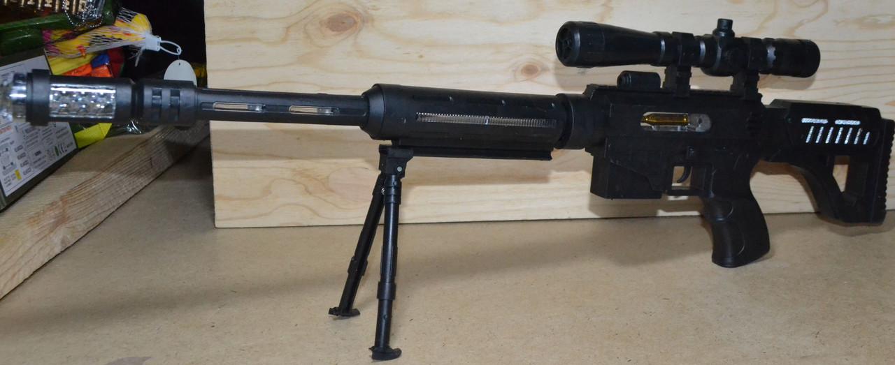 929-34 Автомат черный музыкальный Dead Shot на батарейках в пакете 47*18см