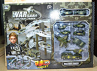 CM557-60 Военная парковка War Sara Military Track 9 видов спецтехники 71 дет. 47*42