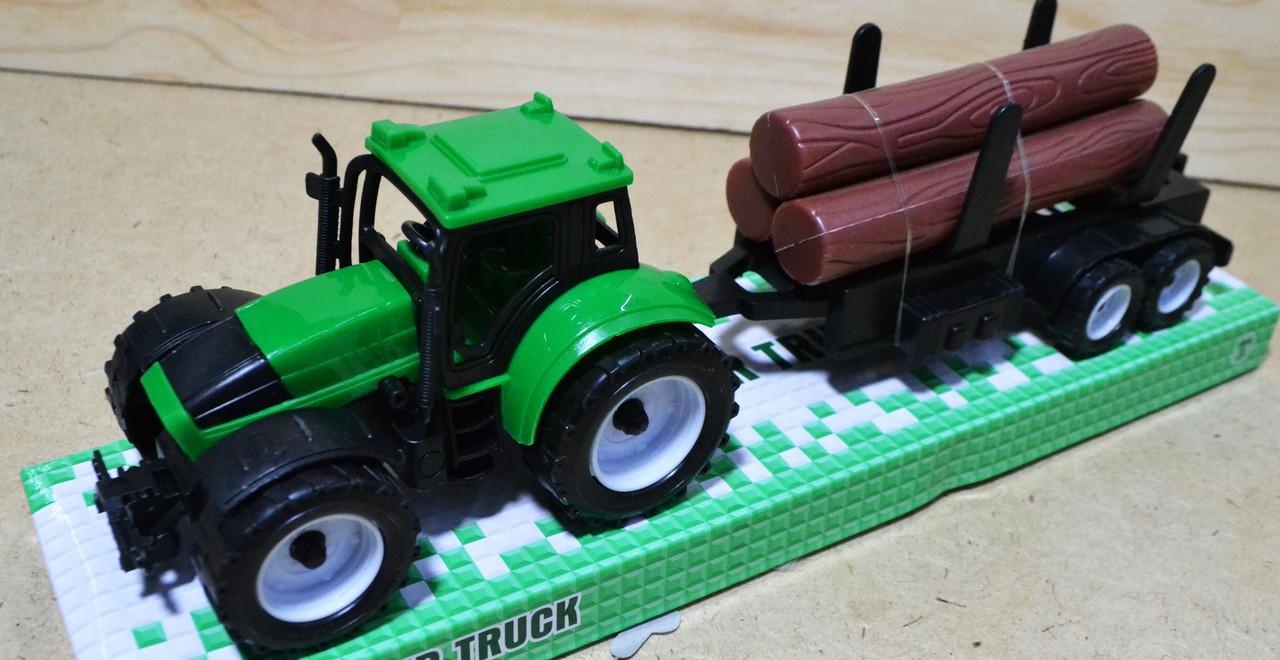 9970-3A Трактор Farmour Truck с деревом в колбе 32*10