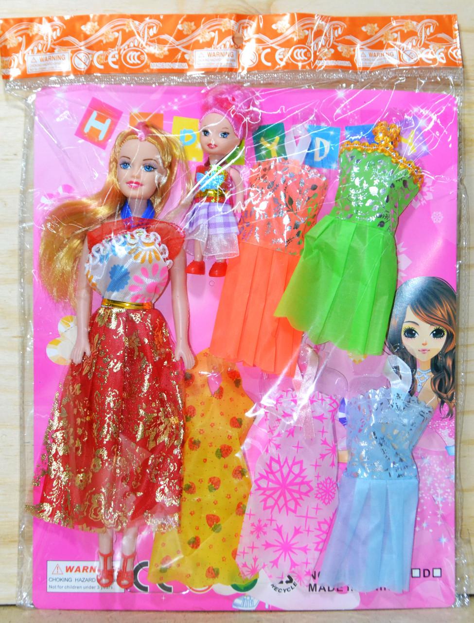 Q15 Кукла с 5 платьями в пакете 35*25