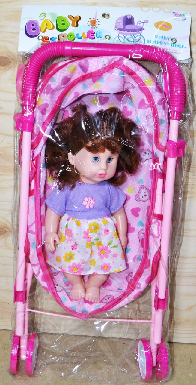 6818 Коляска Baby Stroller  лежачая лежачая с куклой 58*26