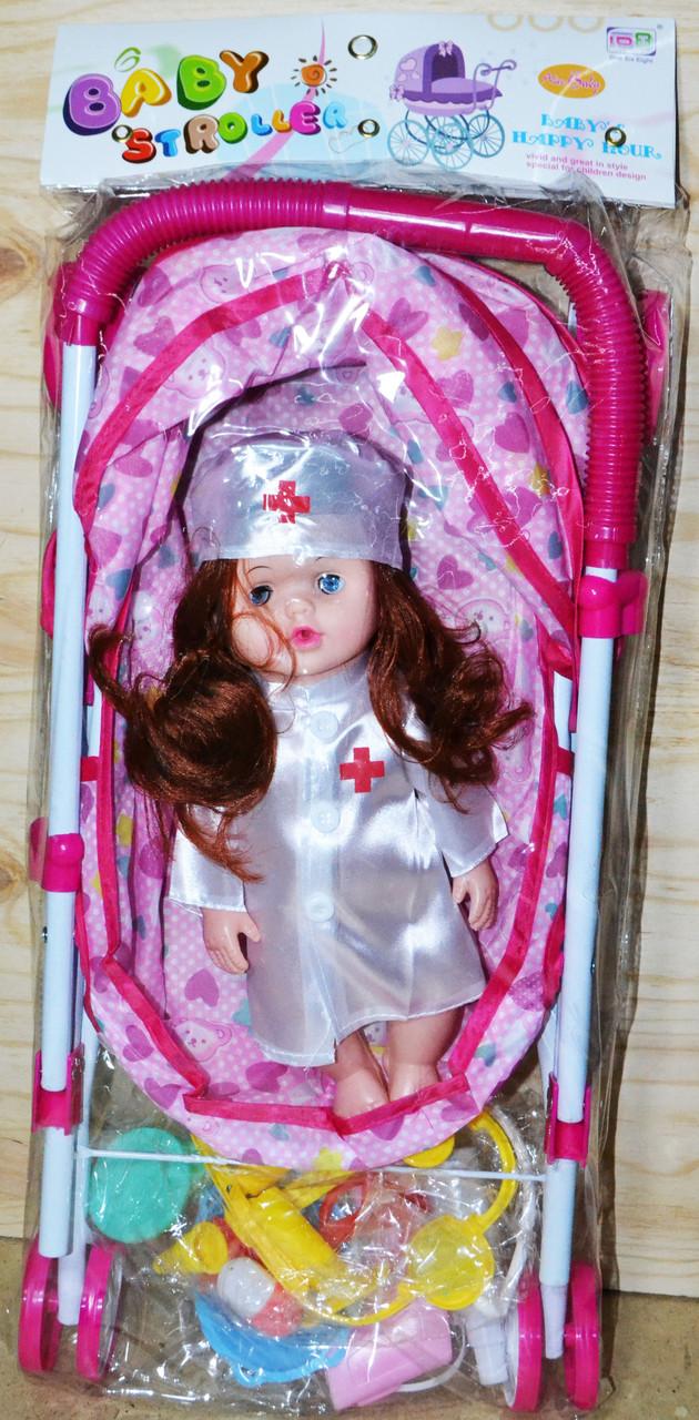 7816 Коляска Baby Stroller лежачая доктор  с мед набором 60*25