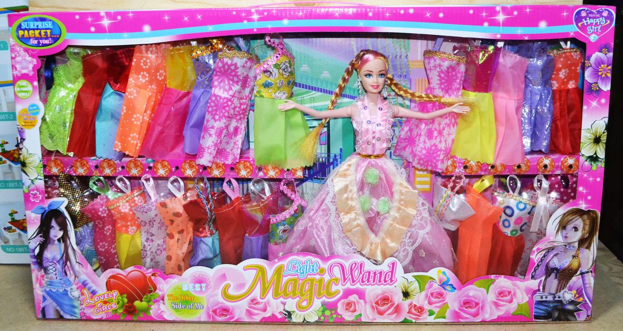 YX017A Кукла Light Magic Wand в бальном платье 29 платьев 62*34