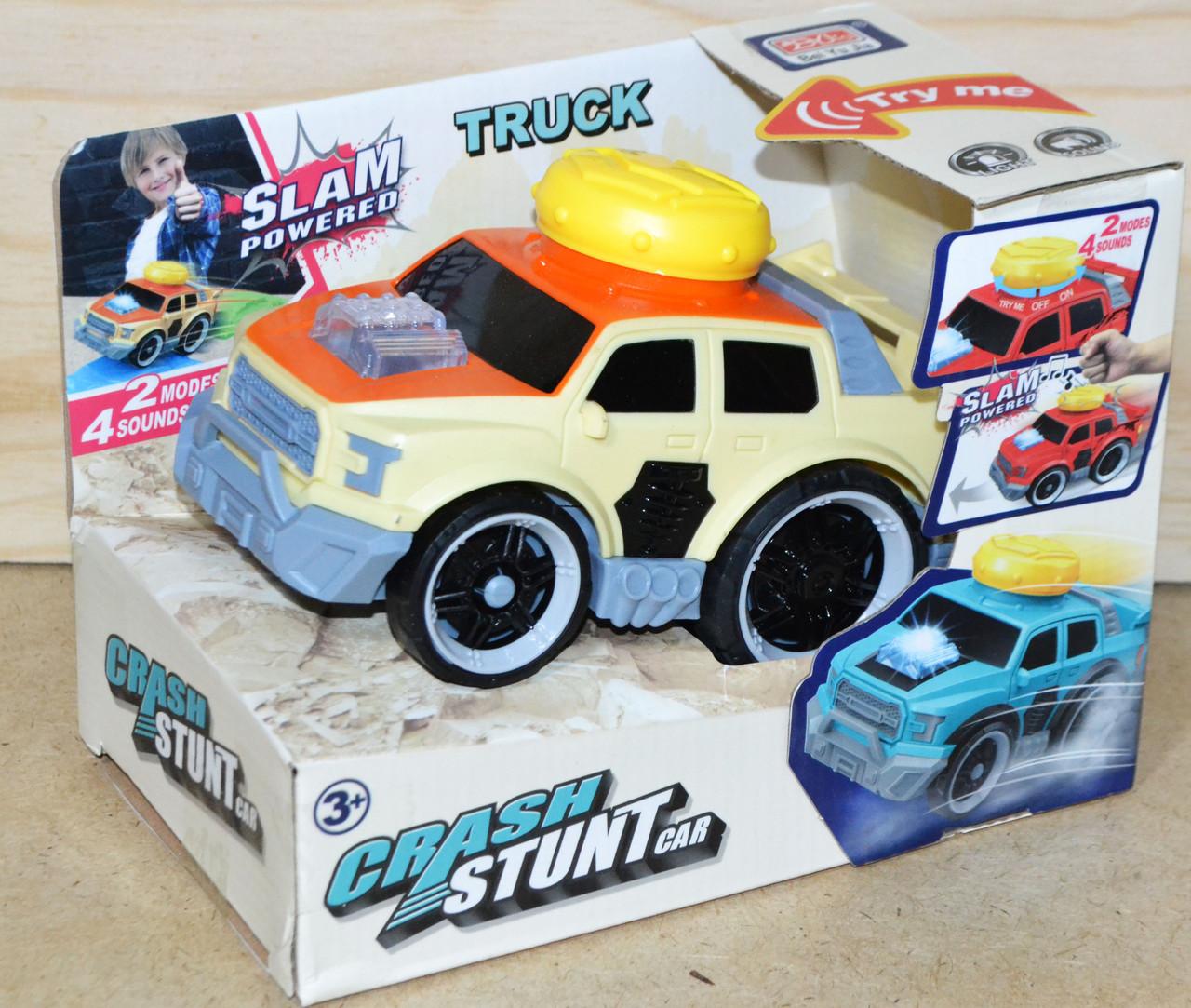 A2233-1 Машина Crash stunt Car на батарейках муз/свет 18*13