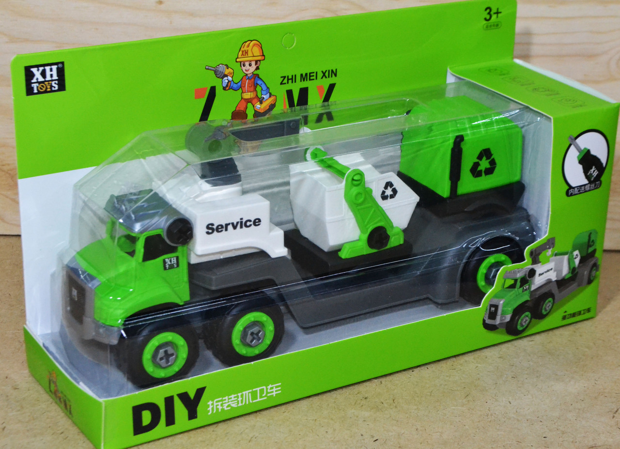 677-105 Трейлер мусоровоз разбирайка 32*18