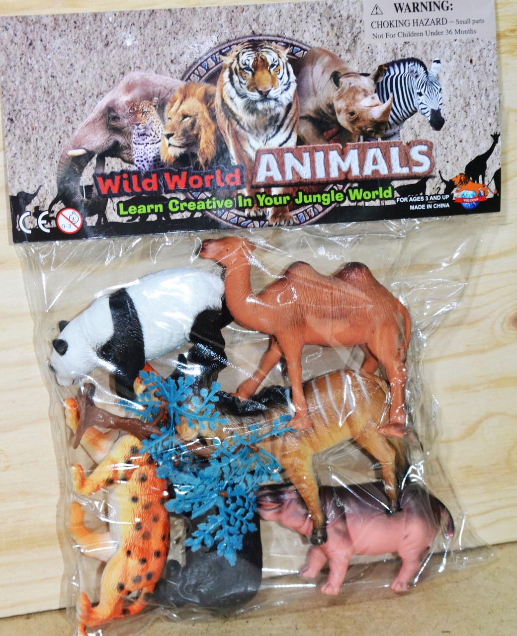 P852/6 Дикие животные Wild World Animals из 6 шт 31*25