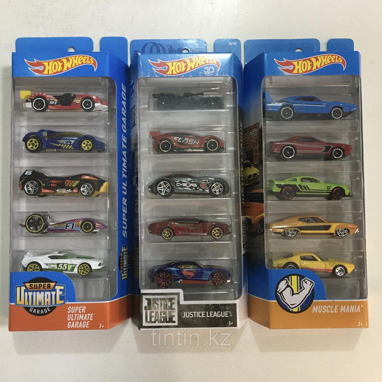 Набор моделек «Hot Wheels» 5 шт, Оригинал металлические, в коробке