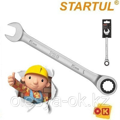 Ключ трещоточный 15 мм, 72 зуба. PRO STARTUL, фото 2