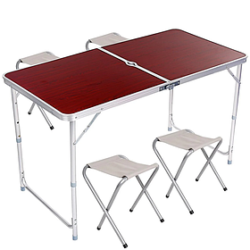 Стол складной для пикника со стульями 4шт